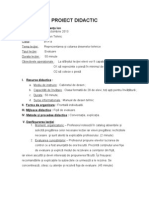 Proiect de Lectie (Evaluare)