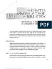 Chapter Anaysis Method