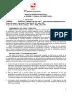 PROGRAMA CURSO MODOS DE INTERVENCIÓN SOCIAL-01.2012