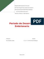 Informe de Periodo de Desarrollo
