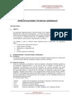 Especificaciones Tecnicas Generales Cotay