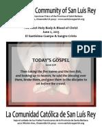 Bulletin for Mission San Luis Rey Parish  06-02-2013