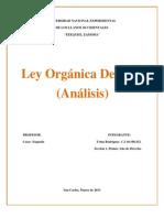 ley orgánica del P.P.