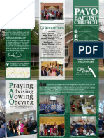 Pavo Baptist Church Brochure 2013