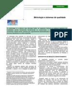 Metrologia e Sistemas de Qualidade