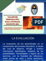 Evaluacion y Materiales