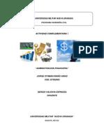 Actividad 1 Admon Financiera. JORGE RIAÑO D 7302002