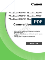 Canon PowerShot A810 Camera Manual