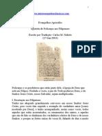Evangelhos Apócrifos - Epístola de Policarpo aos Filipenses