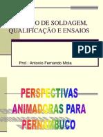 INSPEÇÃO DE SOLDAGEM, QUALIFICAÇAO E ENSAIOS