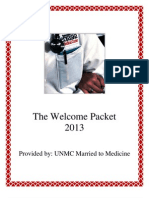 Welcome Packet 2013