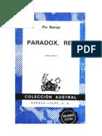 Baroja Pio - Paradox Rey