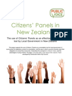 Citizens' Panels in New Zealand