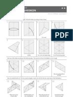 Tetrahedron Origami Instructions
