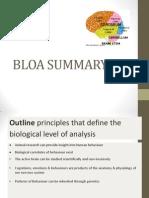 Bloa Summary