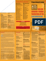 TRIPTICO IX Congreso de Sociologia Peru Mayo 2013