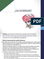 Cognitive LOA Summary