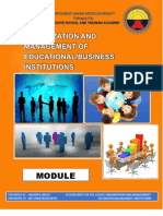 MODULE on Organization and Management of Educational Business Institution
