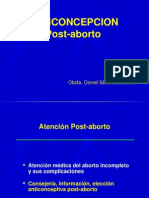Planificacion Familiar en El Post Aborto