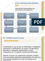 Unidad IV Diseño Método de investigación empírica 2010