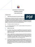 Mutual Recognition Agreement for Architecture Philippine Assessment Statement FINAL