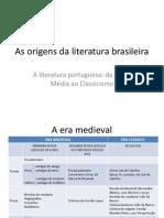 As Origens Da Literatura Brasileira