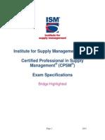 CPSM Exam Spec Bridge