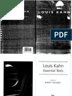 EssentialTexts. Louis Kahn