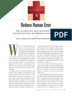 Reducing Human Error QP