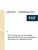 Cricket Terminology