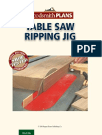 Table Saw Ripping Jig