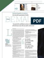 Antonio Gnoli Intervista Il Linguista Tullio de Mauro - La Repubblica 02.06.2013
