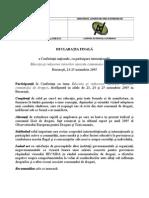 2005_Declaratia finala a Conferinţei naţionale, cu participare internaţională ,,Educaţia şi reducerea riscurilor asociate consumului de droguri,,_4p
