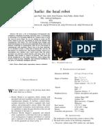 Charlie Robotic Humanoid Head Description Document