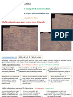 Edexcel A2 Biology Unit 4 Revision Cards [Autosaved]