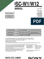 Sony DSC-W1 Service Manual T070712043650-14cf0-11679
