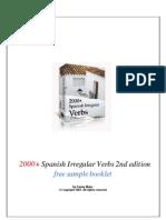 2000 Spanish Irregular Verbs