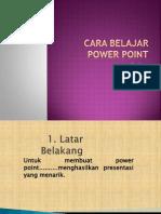Cara Belajar Power Point