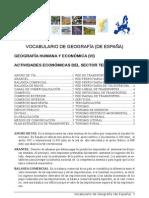 Vocabulario Geografia 6 SERVICIOS