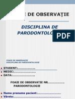 Foaie de Observatie Parodontologie-Prezentare
