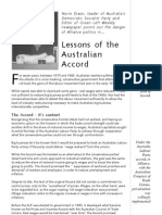 Lessons of the Australian Prices and Incomes Accord
