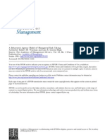 A Behavioral Agency Model of Managerial Risk Taking