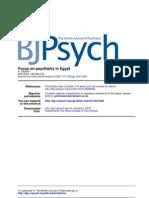 depressive disorders in Egypt  epidemiology study by ahmed okasha