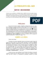 Heidegger-hacia La Pregunta Del Ser