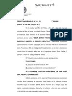 BBVA. BANCO FRANCÉS S.A. C/ NICOLETTO, MARCELO ANDRÉS S/ COBRO EJECUTIVO