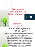 Relief Management the concept and the approach