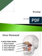 Rhinologi(Sinusitis)& RA Dr.sph