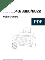 User Manual Canon Fax B822