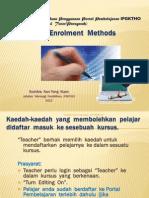 Moodle Enrollment Methods