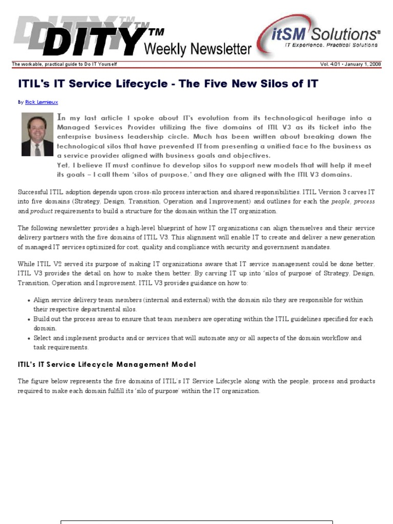 Itils service lifecycle the five new silos of it itil it itils service lifecycle the five new silos of it itil it service management malvernweather Gallery